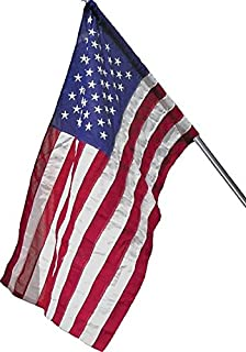 Wilbork American Flag (Pole Sleeve) - 100% Made in USA - Strong Like Americans Made by Americans: Embroidered Stars - Sewn Stripes - 3x5 ft Outdoor Flag