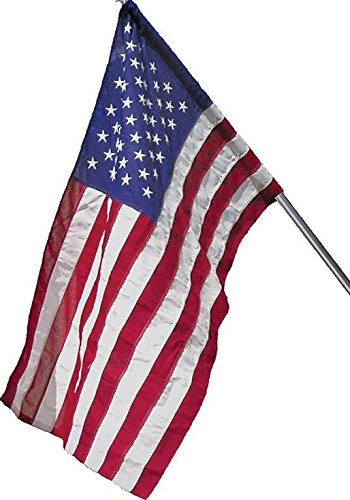 Wilbork American Flag (Pole Sleeve) - 100% Made in USA - Strong Like Americans Made by Americans: Embroidered Stars - Sewn Stripes - 2.5x4 ft Outdoor Flag
