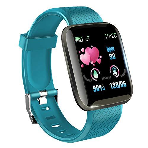 KawKaw Smartwatch mit Pulsmesser & Schrittzähler für Damen und Herren - Integrierter Kalorienzähler & Activity Tracker Blutdruckmesser - Smart Watch Armband Uhr für Sport und Fitness (Türkis)