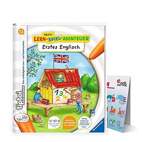 Ravensburger tiptoi ® Buch Mein Lern-Spiel-Abenteuer | Erstes Englisch + ABC Buchstaben Kinder Poster by Collectix - Schule, Zahlen
