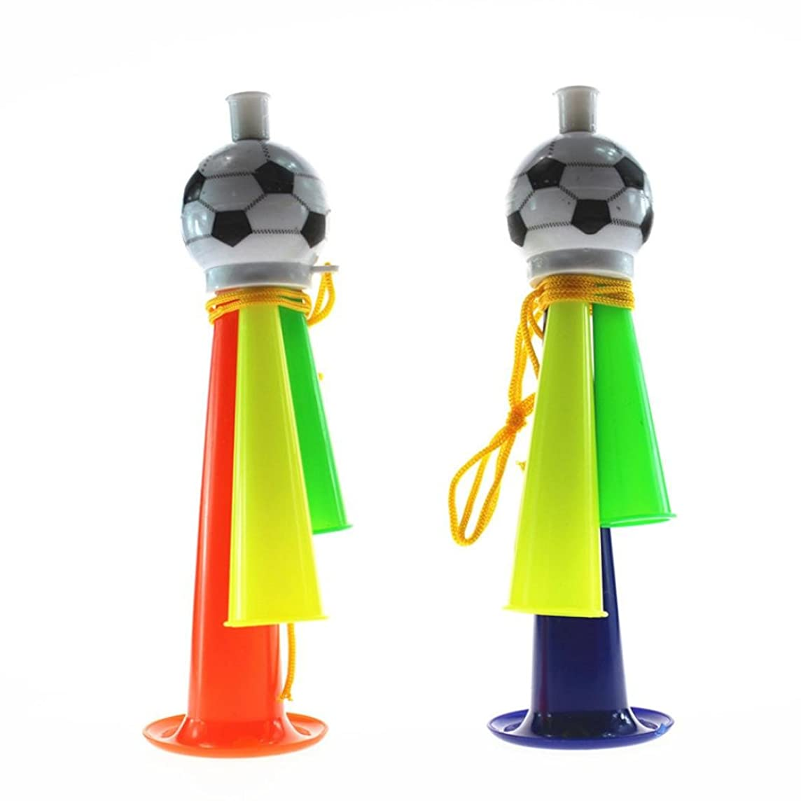 Gbell 22CM/19CM/3.5CM Game Cheer Football Horn Toy, Adults,Boys,Girls Hooter Trumpet Instruments Music Toys for 2018 World Cup (A)