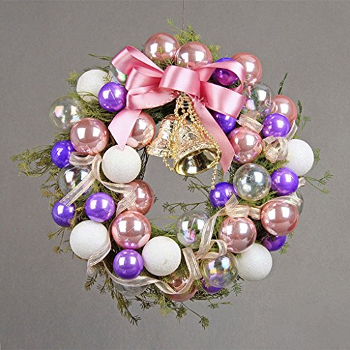 Find Discount LAOHAO Christmas Decoration Pink Purple Christmas Wreath Set of High-end Exquisite Chr...