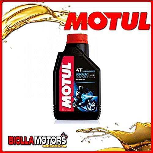 MOTUL45 - FLACONE 1 litro OLIO MOTUL 3000 4T 10W30 MINERALE PER MOTORI 4T