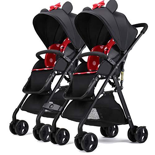Doppel Kinderwagen Kinder SüßEste Design City Street Buggy Zwillinge Kinderwagens 8598,Red