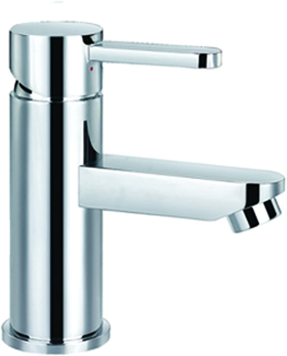 Steel Basin Mixer Tap, Silver