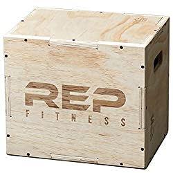 Rep Fitness 3 in 1 Wood Plyometric Box for Jump Training and Conditioning