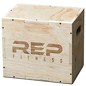 Rep 3 in 1 Wood Plyometric Box for Jump Training and Conditioning 16/14/12