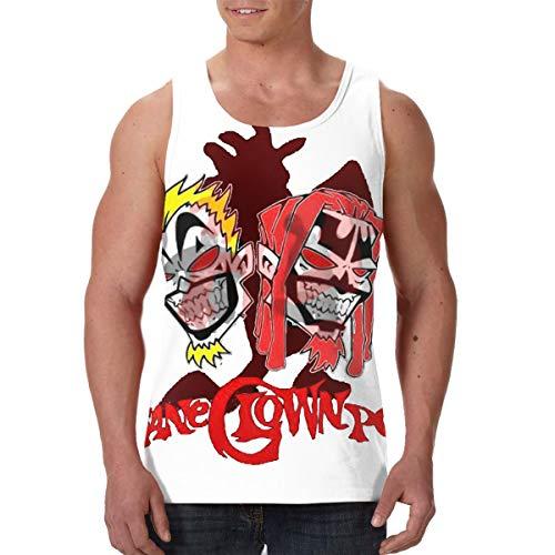 Men's Work Out Classic T-Shirt Print Premium Tank Top, Insane Clown Posse ICP Graphic Premium Comfortable Moisture Wicking Compression Muscle Jersey Tank Black