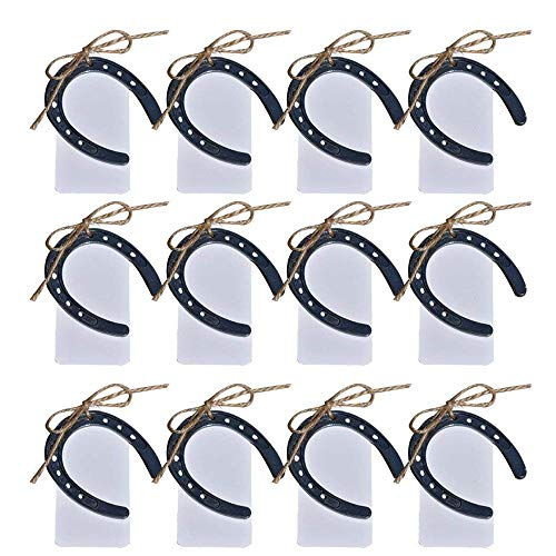 awtlife 24pcs Cast Iron Lucky Horseshoes Vintage Wedding Favors Party Favor Decorations
