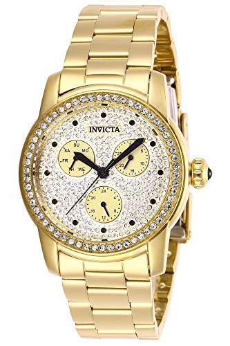 Invicta 28469 Angel Reloj para Mujer acero inoxidable Cuarzo Esfera oro