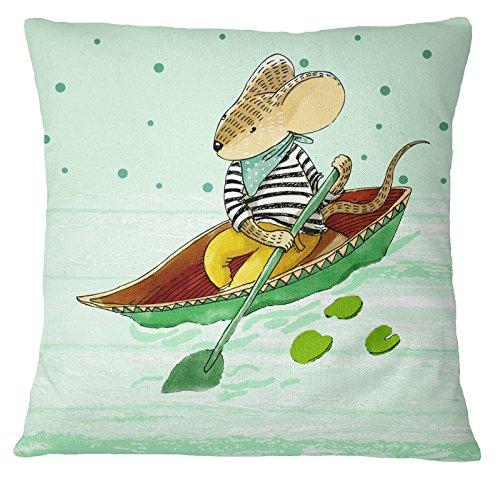 s4sassy hogar decorativo ratón Animal Impresión Multicolor funda para cojín manta funda de almohada–elegir tamaño, lona, Varios Colores, 24 x 24 Inches