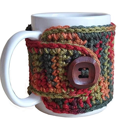 crochet coffee cup cozy - 7