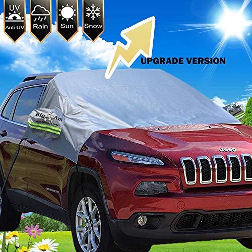 Big Ant Sonnenschutz Auto für Frontscheibe, Auto Sonnenschutz Scheibenabdeckung Magnetische Sonnenblende Auto Plane Auto UV-Schutz Windschutzscheiben Abdeckung Geeignet für die Meisten Fahrzeuge