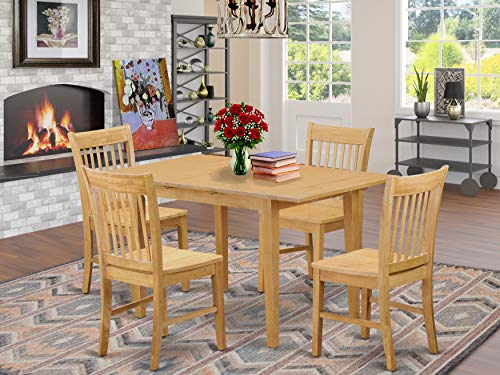 5 Pc dinette set - Dining Tables for small spaces and 4 Chairs for Dining room