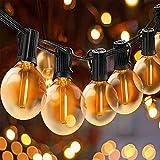 Svater Catena Luminosa Lampadina, 25FT Commerciale Catena Lampadine LED Esterno con 25 G40 Bulbi, Vintage Luce per Patio All'Aperto Giardino Festa Decorazione di Esterni Interni