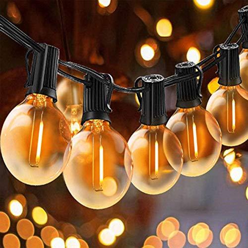 Svater Catena Luminosa Lampadina, 50FT/15M Commerciale Catena Lampadine LED Esterno con 50 G40 Bulbi, Vintage Luce per Patio All'Aperto Giardino Festa Decorazione di Esterni Interni