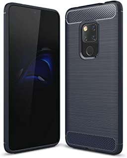 Huawei Mate 20 Carbon Fiber Brushed Case Cover - Blue.