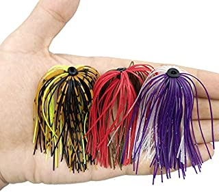 Fishing Lures - 10pcs Mixed Color Fishing Rubber Jig Skirts 50 Strands Silicone Skirts Wire with Rubber Ring Fly Tying Rubber Material
