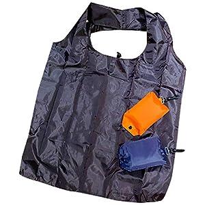 [シーユーエル] 折畳み ナイロン エコバッグ ショルダーバッグ トートバッグ 無地 シンプル A4収納 大容量 cula111 FREE ブラック