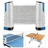 Queta Einziehbare Tischtennisnetze, Tischtennisnetz Verstellbares Tischtennisset Tragbarer...