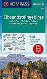 KOMPASS Wanderkarte Elbsandsteingebirge, Nationalpark Sächsische Schweiz, Nationalpark Böhmische Schweiz: 3in1 Wanderkarte 1:25000 mit Aktiv Guide ... Fahrradfahren. Reiten. (KOMPASS-Wanderkarten)