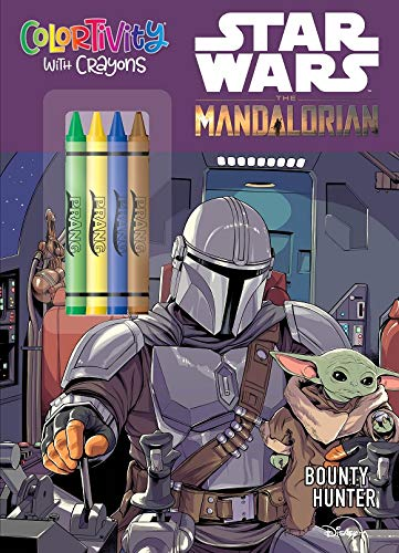 Star Wars The Mandalorian: Bounty Hunter-Coloring and Activity Book with Crayons