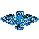 jiashemeng Cometa para Niños Adultos, Dibujos Animados Búho Pájaro Línea única Cometa Voladora Diversión Al Aire Libre Deportes Niños Juguete Regalo Azul