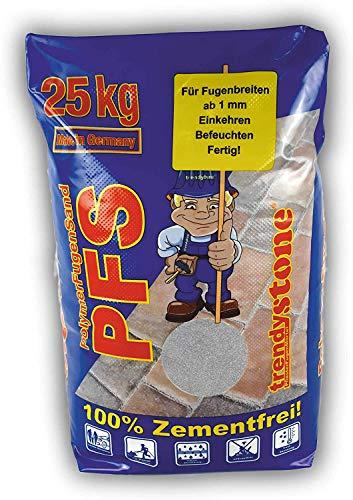 trendystone Polymerfugensand 25 kg Basalt-anthrazit - Pflasterfugenmörtel für schmale Fugen ab 1 mm Fugenbreite