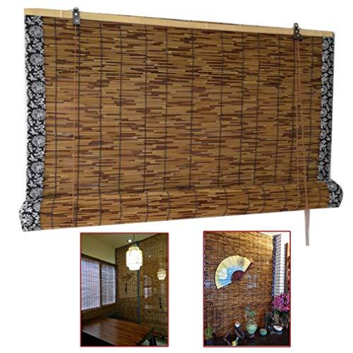 Bambú persianas de rodillo, tejida mano Reed cortinas, persianas romanas, la lumbrera Ventana Persiana de bambú Inicio Decoraciones, impermeable cortina de Sun, for al aire libre / / Puerta, personali