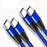 Cable USB C vers USB C 2M+2M Chargeur pour Samsung S21 S20 Plus Ultra FE A71 A70 A72 A52 A52S,S20 FE...