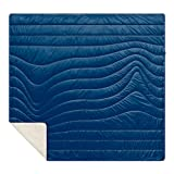 Rumpl The Sherpa Puffy Blanket | Ultra Soft Warm Outdoor Fleece Sherpa Blankets for Camping, Picnics, Traveling, Concerts | Deepwater Blue, 2-Person