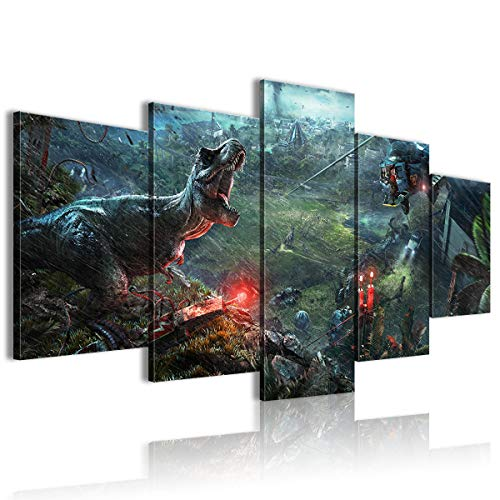 CAFO Five Poster Dipinti Jurassic World Evolution Festive Mood 150 x 80 cm