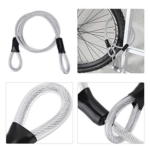 Cuerda De Alambre, Cable De Seguridad, 120 Cm Duradero Para Candado De Bicicleta Accesorio De Candado De Cuerda Cadena De Bloqueo De Puerta De Vidrio