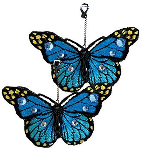 Ohrringe Schmetterling, sortierte Farben, Karneval, Accessiore (blau)