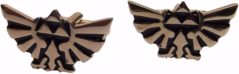 Legend of Zelda Triforce Crest Metal Enamel Cufflink Cheap mail order shopping Logo High order Finish