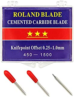 PixMax–Juego de 45Grados Roland Blade/Cuchillas para Cortador de Vinilo Plotter de Corte y, Plata