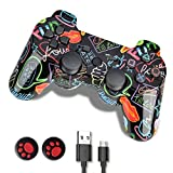 PS3 Controller, PS3 Controller Wireless,Playstation 3 Controller, Wireless PS3 Joystick Double Shock Gamepad Compatible...