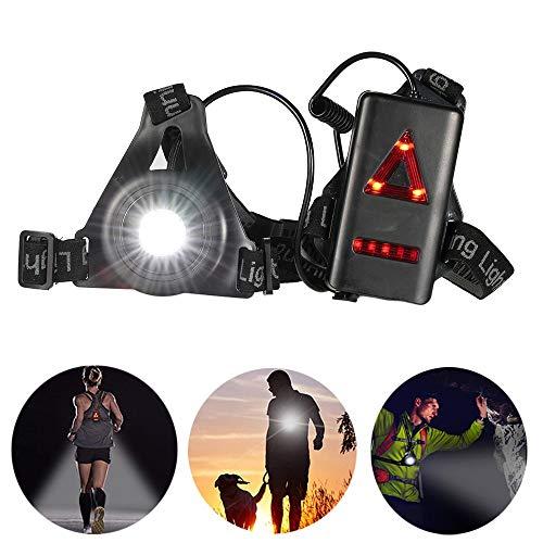 Docooler Outdoor LED Kasten Licht/Nachtlauf Scheinwerfer/Taschenlampe mit Abnehmbarer Befestigungsband für Camping Wandern Laufen