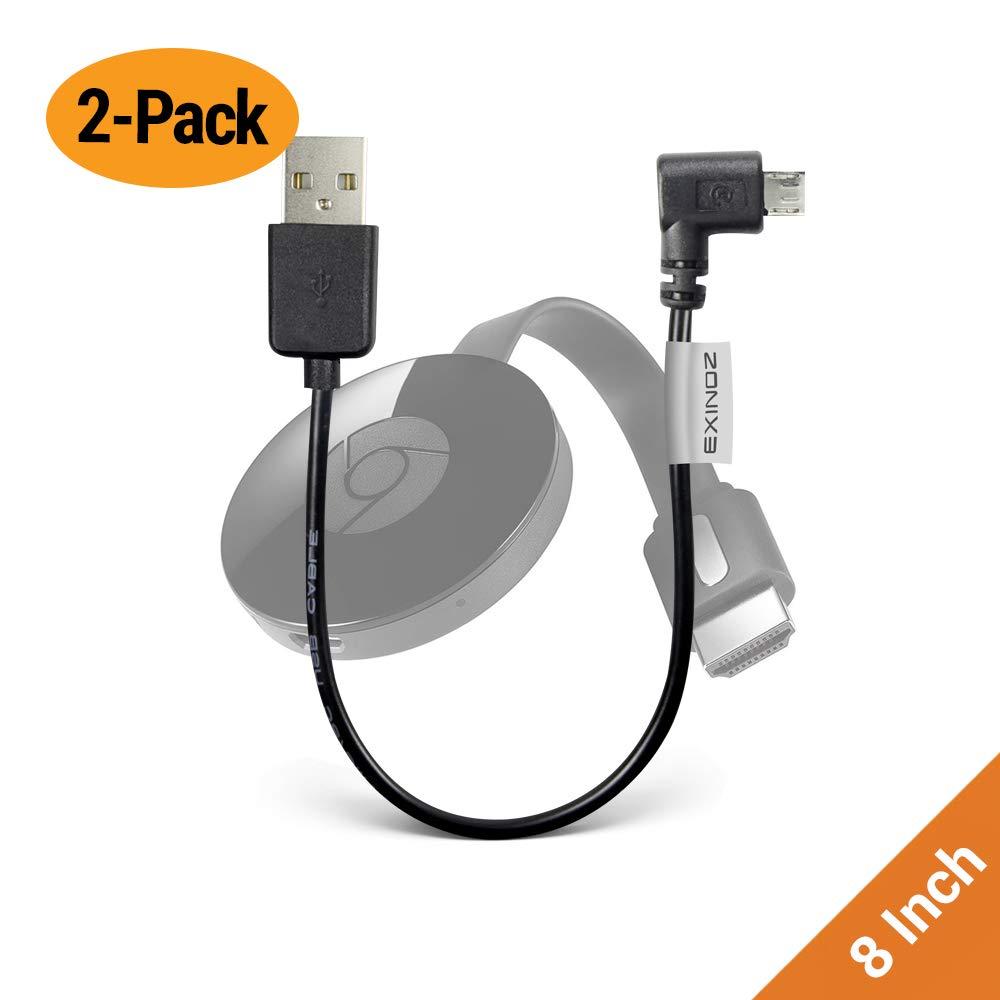 Chromecast USB Cable de transmisión (no incluye Chromecast dispositivo) – -corto Cable de alimentación diseñado para alimentar su Google Chromecast HDMI Streaming Media Player de su puerto USB TV: Amazon.es: Electrónica