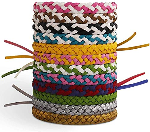 X99 Mosquito Repellent Bracelet 12 Pcs, Insect Mosquito Killer 100% Natural Ingredient for Adults, Kids Outdoor Protection up to 300 Hours (12 Pack 12 Colors)