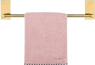 NearMoon Self Adhesive Bathroom Towel Bar- Stainless Steel Bath Wall Shelf Rack Hanging Towel Stick On Sticky Hanger Conte...