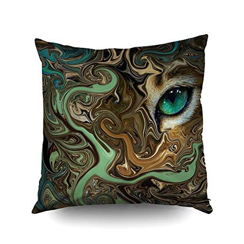Capsceoll Auge des Tigers Dekorativer Kissenbezug 40,6 x 40,6 cm, Heimdekoration, Kissenbezug mit...