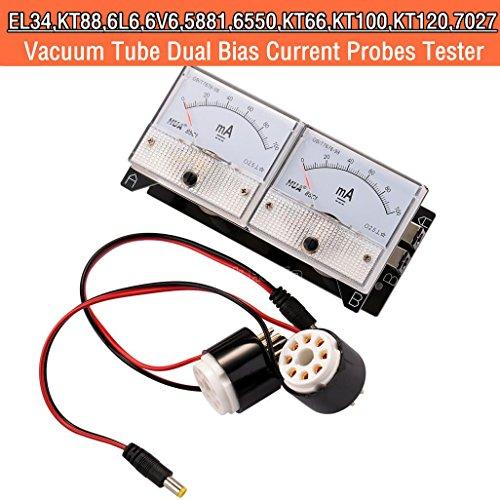 Nobsound 8-Pin Dual Bias stroomsondes tester meter Current Tester meter voor EL34 KT88 6L6 6V6 6550 Valve Tube Amplifier buis versterker