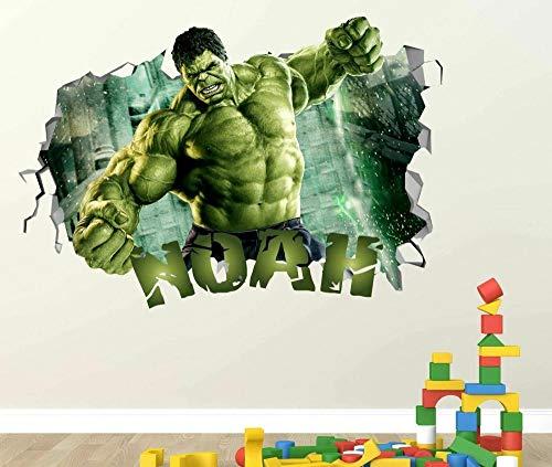 HQSM Wandtattoo Super movie hero Custom Vinyl Stickers 3D Wall Decals Name Art Door Window
