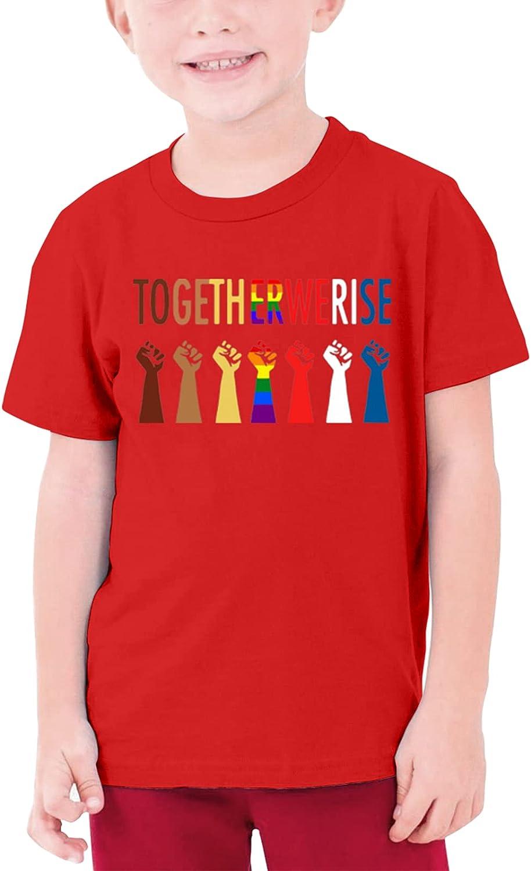 Together We Rise Teenage T-Shirt Crewneck Short-Sleeve Shirt Cotton Tees Tops for Boys Girls