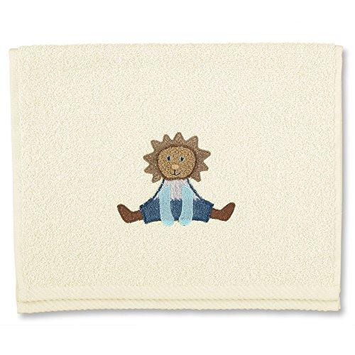 STERNTALER Serviette en Eponge pour Enfant Ecru Motif Leo Le Lion 30 x 50 cm