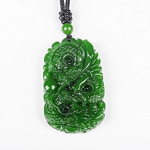 Mayanyan Natürlich Waren Hetian Jade Anhänger Grüner Drache Medaille Anhänger Geschenk für Männer und