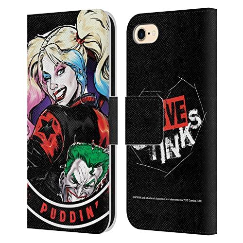 Head Case Designs Licenza Ufficiale Batman DC Comics Puddin Harley Quinn Grafiche Cover in Pelle a Portagoglio Compatibile con Apple iPhone 7 / iPhone 8 / iPhone SE 2020