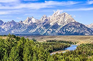 Grand Teton National Park, Wyoming - Peaks and Snake River - Photography A-94644 (24x36 Fine Art Giclee Gallery Print, Home Wall Decor Artwork Poster)