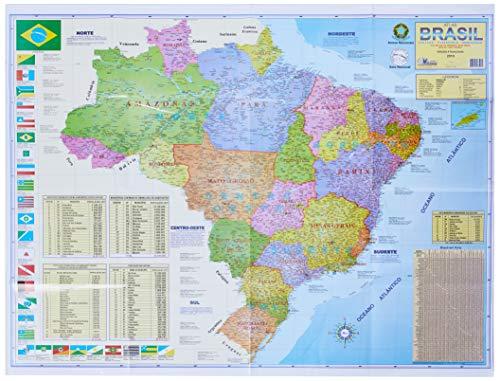 Multimapas 204 Mapa Escolar Brasil Politico/Rodoviário, Multicor